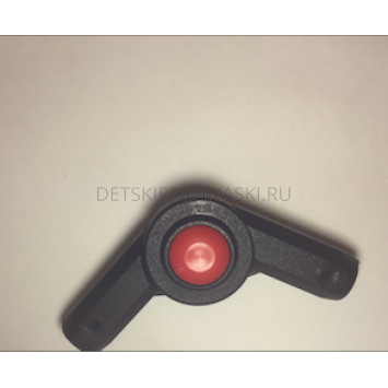 Шарнир/сустав капюшона Польша (круг-круг\16мм\красная кнопка)